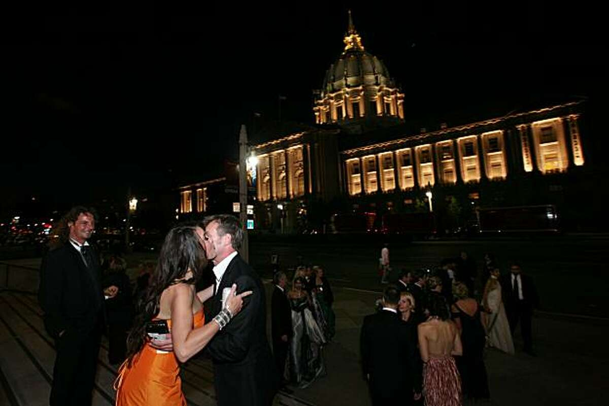 Guests head to the San Francisco Opera's 88th opening night performance of