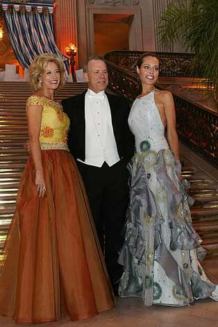 Bill Poland and his wife, Opera Ball co-chair Mary Poland, and Opera Ball co-chair Charlot Malin attend the San Francisco Opera's 88th opening night gala Friday. Photo: Erin Lubin, Special To The Chronicle