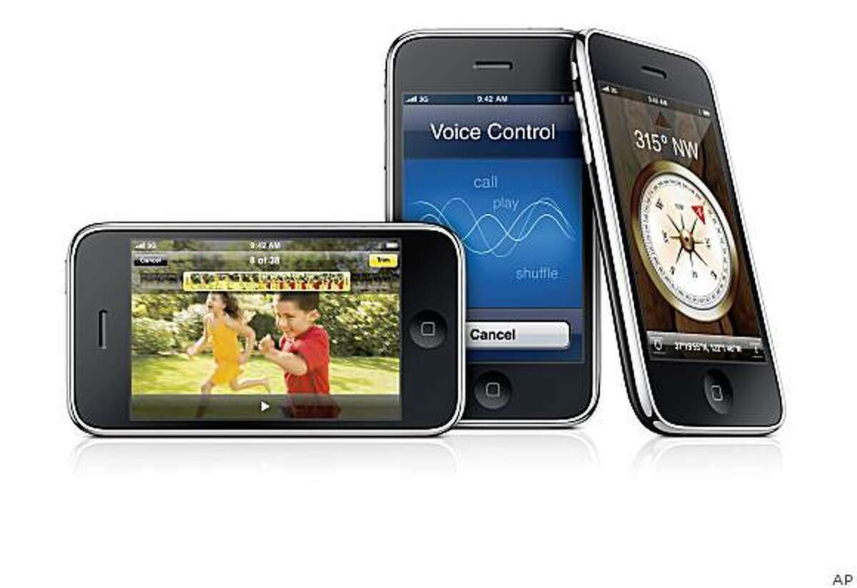 In this product image released by Apple Inc., Monday, June 8, 2009, a new iPhone 3G S, is shown.