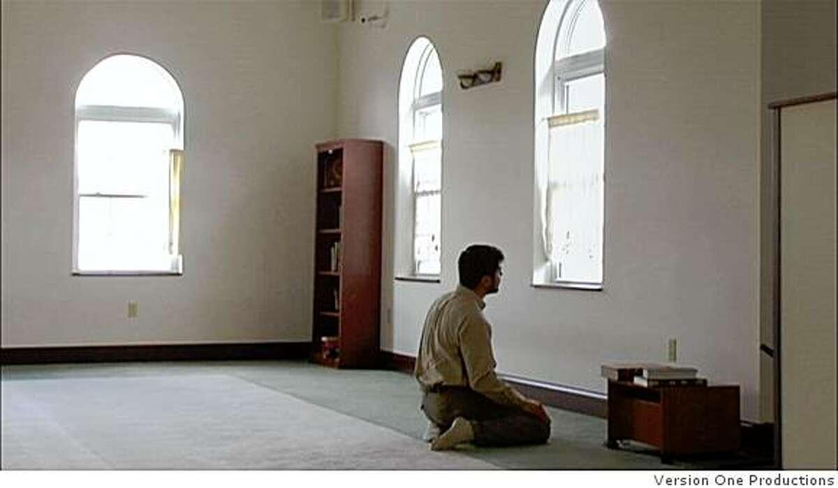 Ihtishaam Qazi, a member of the mosque in Morgantown, W. Va., at prayer.