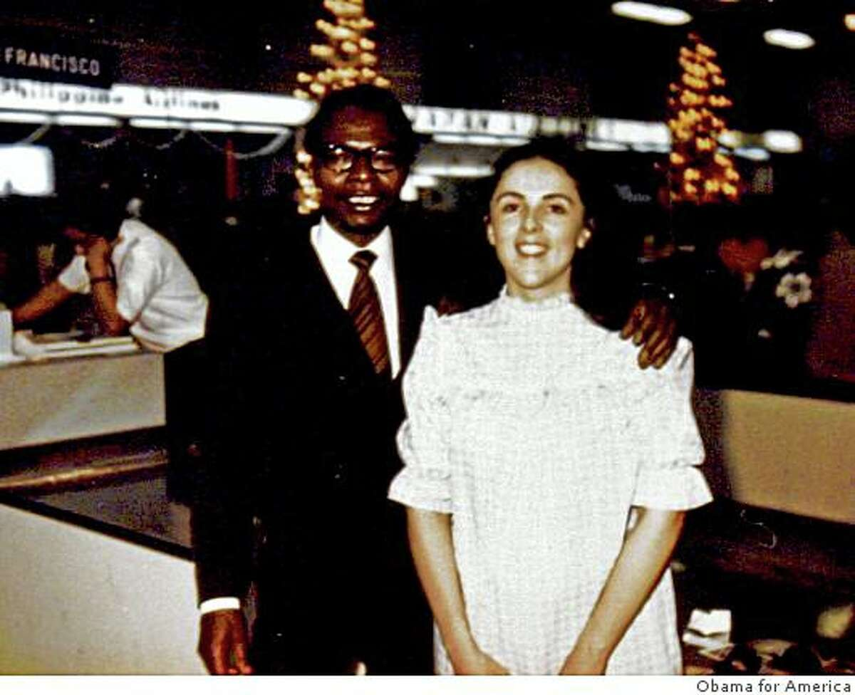 Democratic presidential candidate, Sen. Barack Obama's father, also named Barack Obama, and mother, Stanley Ann Dunham. Obama's father left the family to study at Harvard when Barack was just two.
