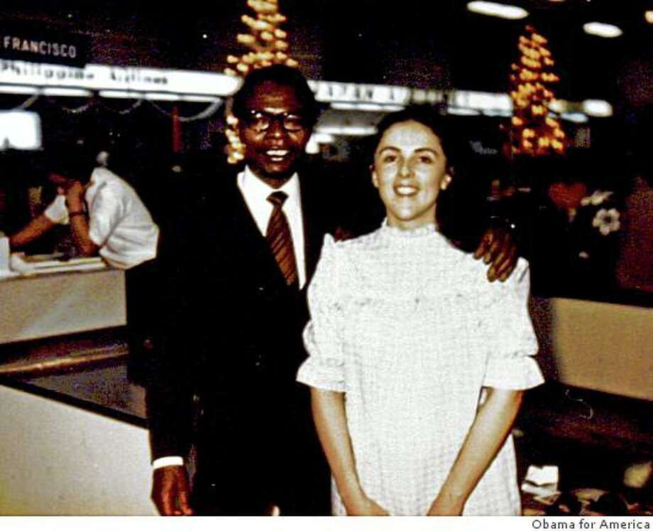 Democratic presidential candidate, Sen. Barack Obama's father, also named Barack Obama, and mother, Stanley Ann Dunham. Obama's father left the family to study at Harvard when Barack was just two. Photo: Obama For America, AP