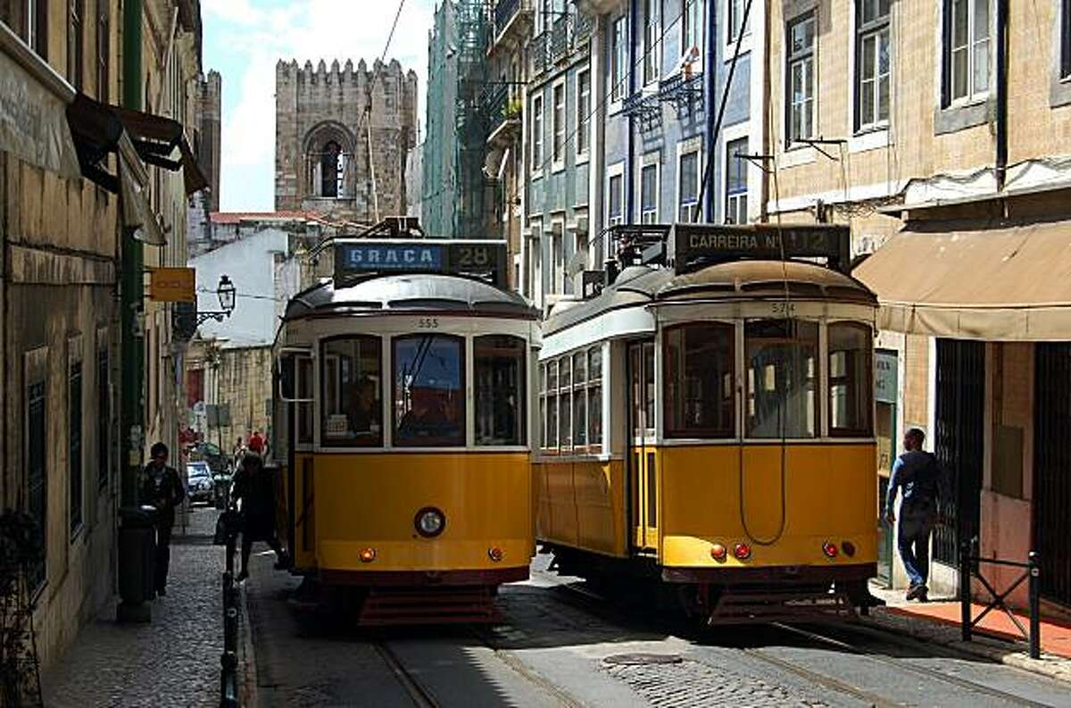 Riding one of Lisbon's vintage trolleys is a great way to see the city.