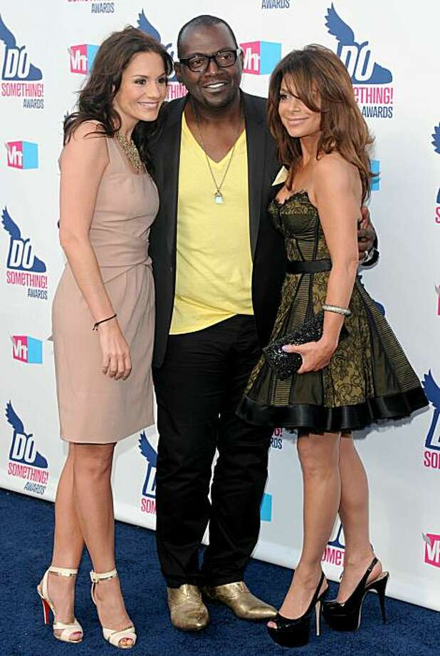 HOLLYWOOD - JULY 19: (L-R)  TV personalities Kara DioGuardi, Randy Jackson and Paula Abdul  arrive at the 2010 VH1 Do Something! Awards held at the Hollywood Palladium on July 19, 2010 in Hollywood, California.  (Photo by Alberto E. Rodriguez/Getty Images for VH1) Photo: Alberto E. Rodriguez, Getty Images For VH1