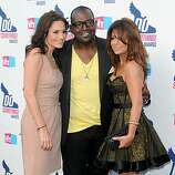 HOLLYWOOD - JULY 19: (L-R)  TV personalities Kara DioGuardi, Randy Jackson and Paula Abdul  arrive at the 2010 VH1 Do Something! Awards held at the Hollywood Palladium on July 19, 2010 in Hollywood, California.  (Photo by Alberto E. Rodriguez/Getty Images for VH1)