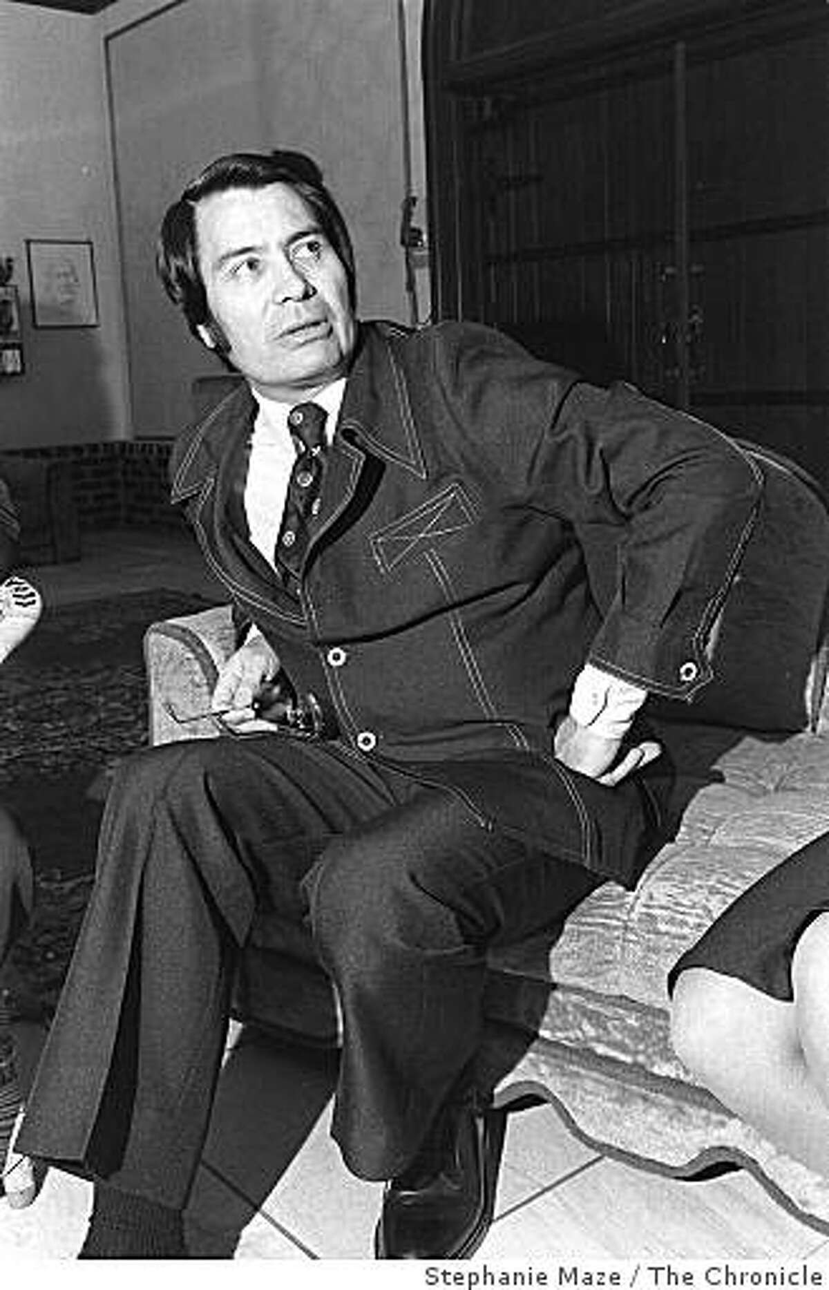 Rev. Jim Jones, of People's Temple, during an interview on June 2, 1976