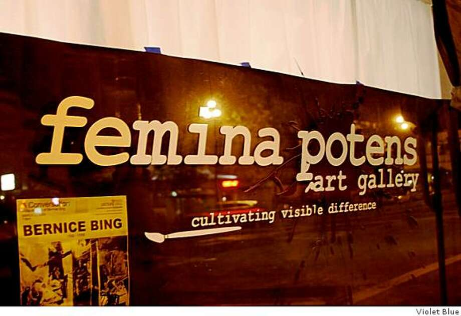 "Femina Potens gallery, ""The Art of Restraint."" Photo: Violet Blue"