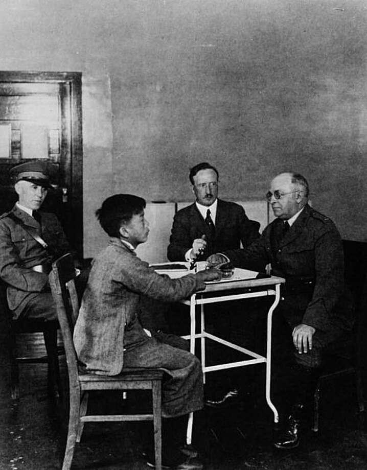 A detainee interrogation at Angel Island. Photo: Angel Island Immigration Station