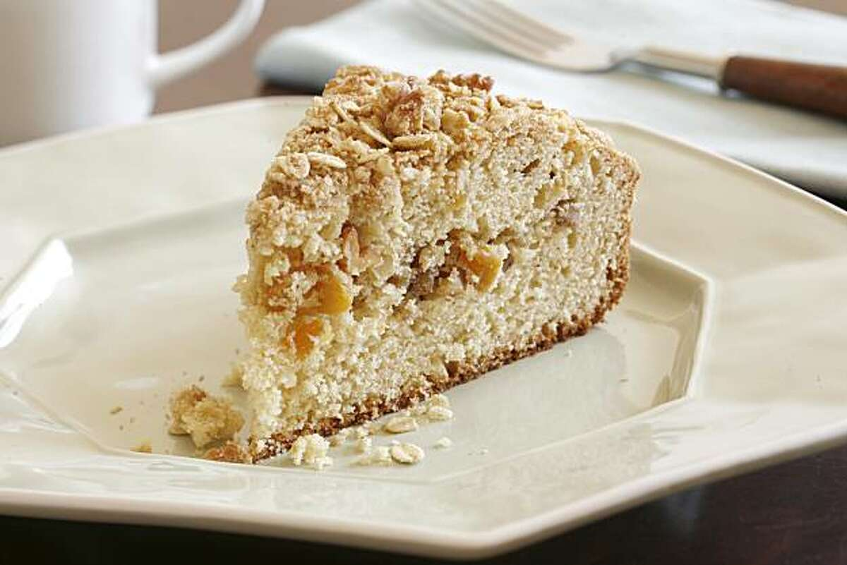 Apricot Coffee Cake with Oatmeal Crumble in San Francisco, on April 30, 2008. Food styled by Ethel Brennan.