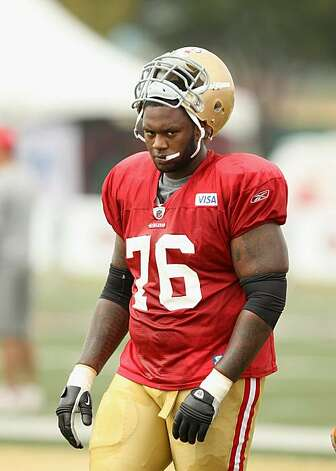 SANTA CLARA, CA - AUGUST 02:  Anthony Davis #76 works out during the San Francisco 49ers training camp at their training complex on August 2, 2010 in Santa Clara, California. Photo: Ezra Shaw, Getty Images