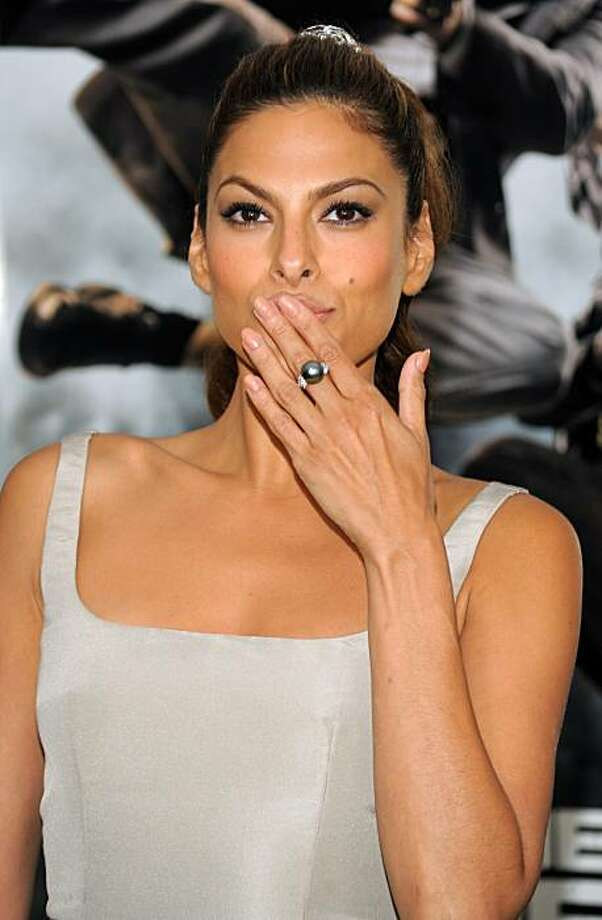 "Actress Eva Mendes attends the world premiere of ""The Other Guys"" at the Ziegfeld Theatre on Monday, Aug. 2, 2010 in New York. Photo: Evan Agostini, AP"