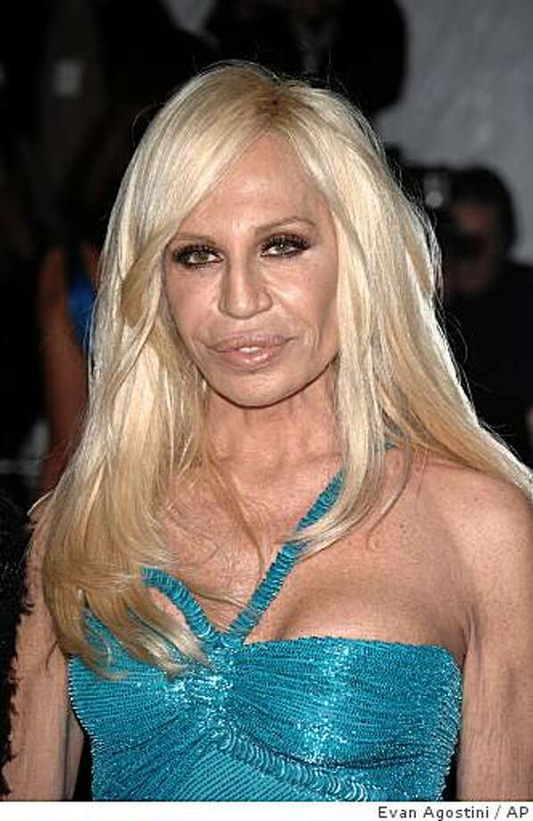 Donatella Versace looks like she's been molded out of plastic.  Photo: Evan Agostini, AP