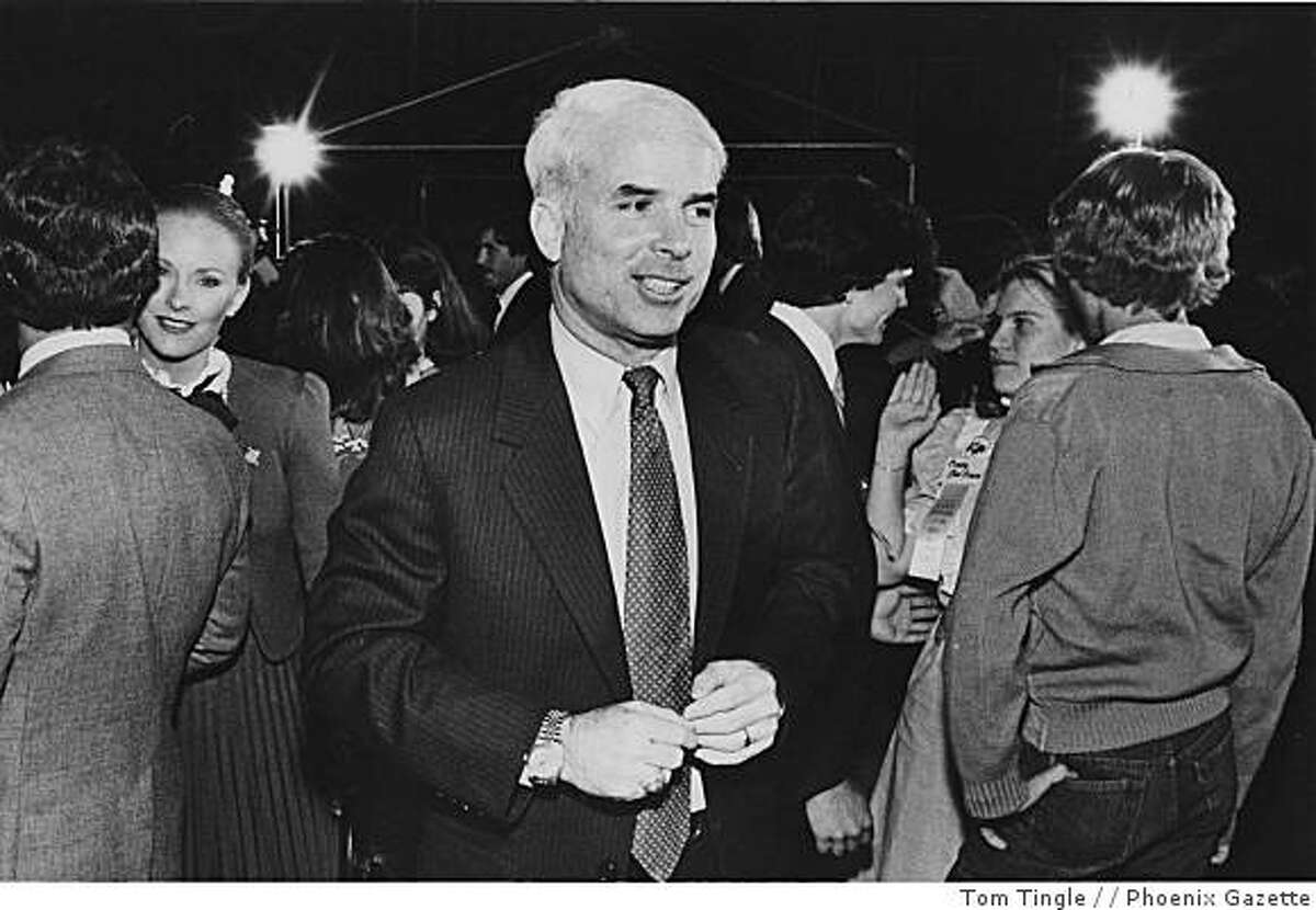 In this November 2, 1982 file photo John McCain is seen in Phoenix, Ariz. McCain was elected to the U.S. House of Representatives from Arizona in 1982, the launch of his political career.