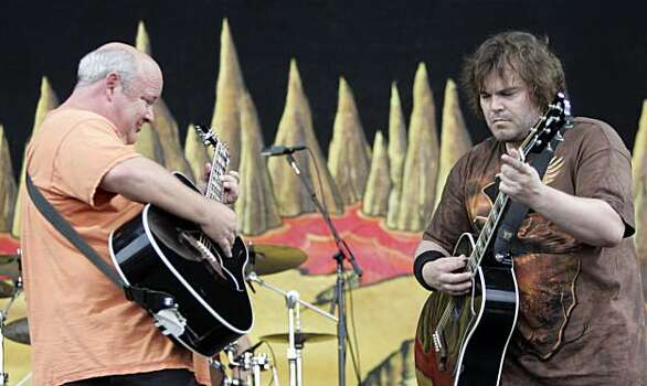 Jack Black, right, and Kyle Gass of the band Tenacious D perform at the Bonnaroo Music and Arts Festival in Manchester, Tenn. Friday, June 11, 2010. Photo: Jeff Christensen, AP