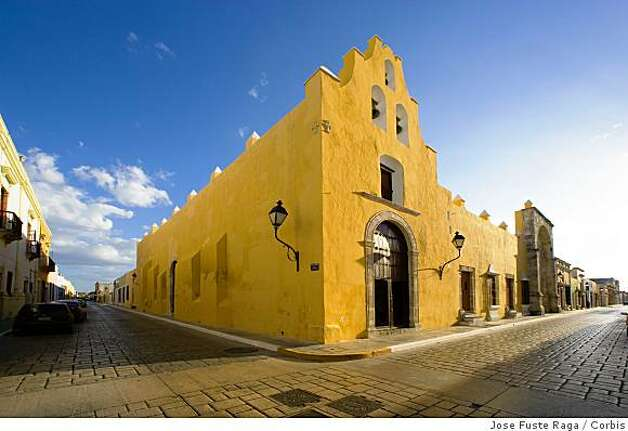 February 2006, Campeche, Mexico --- A Street Corner in Campeche --- Image by � Jose Fuste Raga/Corbis Photo: Jose Fuste Raga, Corbis