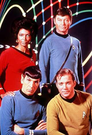 "Nichelle Nichols, DeForest Kelley, William Shatner & Leonard Nimoy in the television series, ""Star Trek."" Photo: Paramount Pictures, Getty Images"