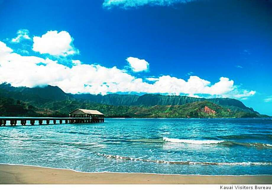 "Hanalei Pier is one of the ""South Pacific"" stops on the Hawaii Movie Tours' coastal route. Photo: Kauai Visitors Bureau"