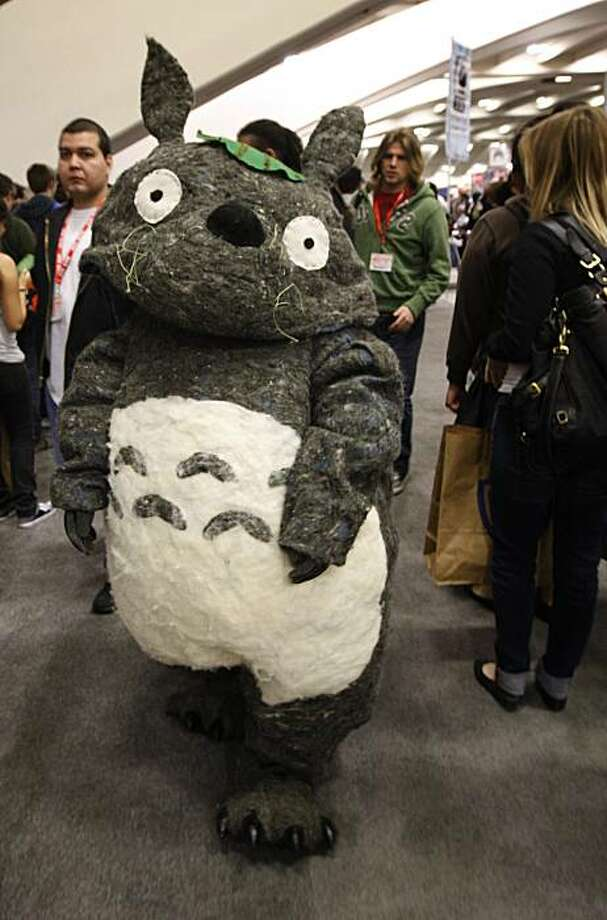 Totoro, aka Jackie Huang, wanders through the WonderCon comic book convention in San Francisco on Saturday. Photo: Paul Chinn, The Chronicle