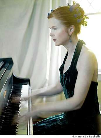 "Sarah Cahill performs ""A Sweeter Music,"" with video by John Sanborn, Sunday, Jan. 25, at Hertz Hall in Berkeley. Photo: Marianne La Rochelle"