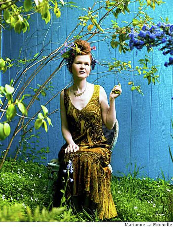 """Sarah Cahill performs """"A Sweeter Music,"""" with video by John Sanborn, Sunday, Jan. 25, at Hertz Hall in Berkeley. Photo: Marianne La Rochelle"""