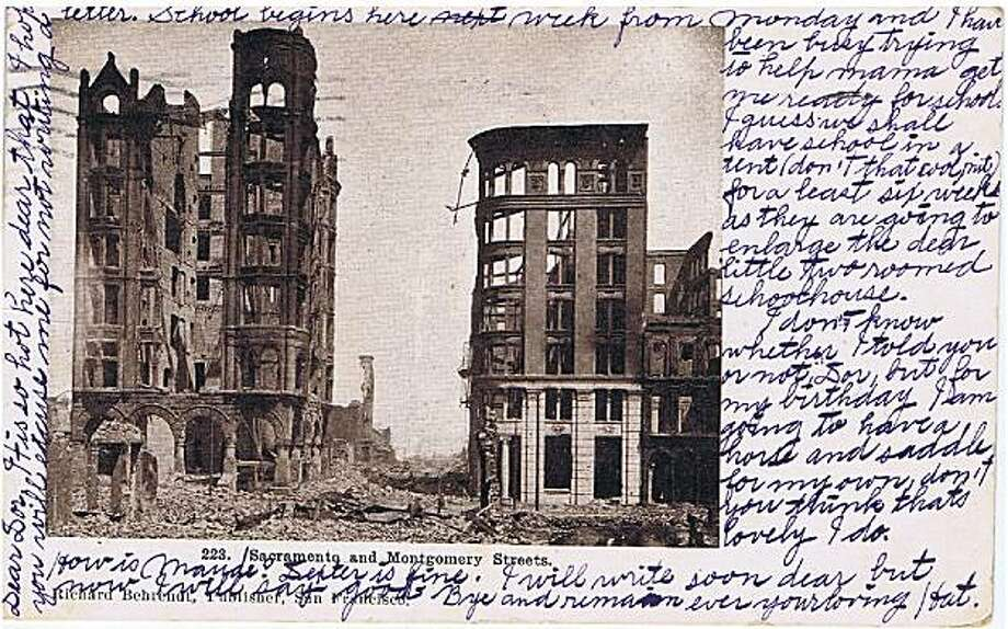 Miscellaneous photos, postcards, newspaper clippings and personal correspondence from the San Francisco earthquake of April 18, 1906 and its aftermath. Photo: Bob Bragman, Fr The Collection Of Bob Bragman