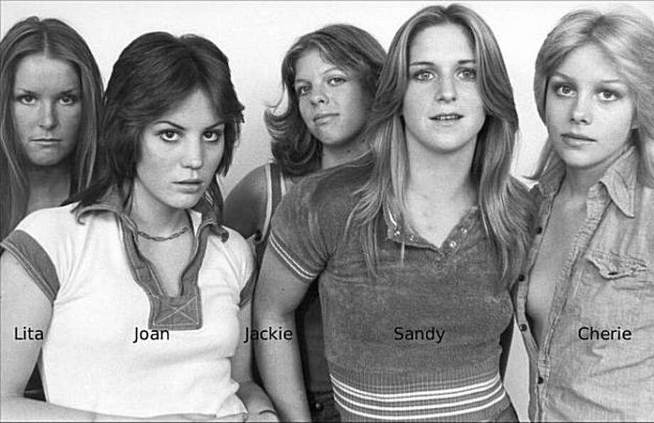 The original Runaways (from left): guitarist Lita Ford, songwriter/guitarist Joan Jett, bassist Jackie Fox, drummer Sandy West and vocalist Cherie Currie. Photo: Blogs.sun.com