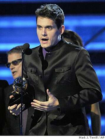 John Mayer accepts the award for best male pop vocal performance for ?Say? at the 51st Annual Grammy Awards on Sunday, Feb. 8, 2009, in Los Angeles.  (AP Photo/Mark J. Terrill) Photo: Mark J. Terrill, AP