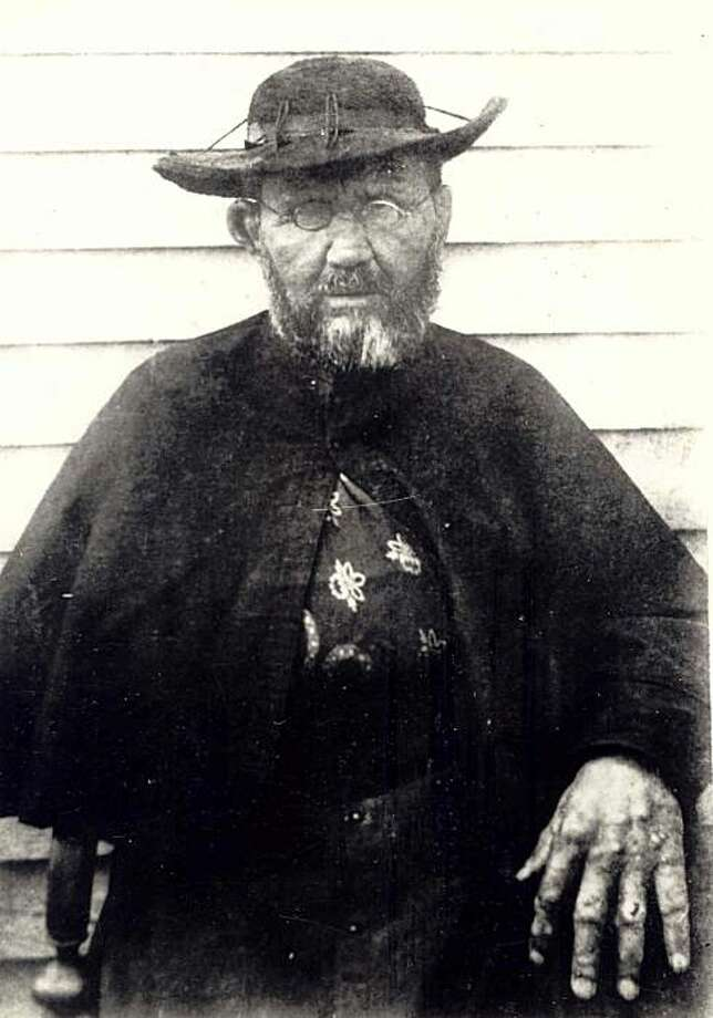 In this photo provided by Hawaii State Archive, Father Damien is seen in this portrait taken two months before his death in 1889 at the leprosy settlement in Kalaupapa, Hawaii. Photo: Hawaii State Archive, AP