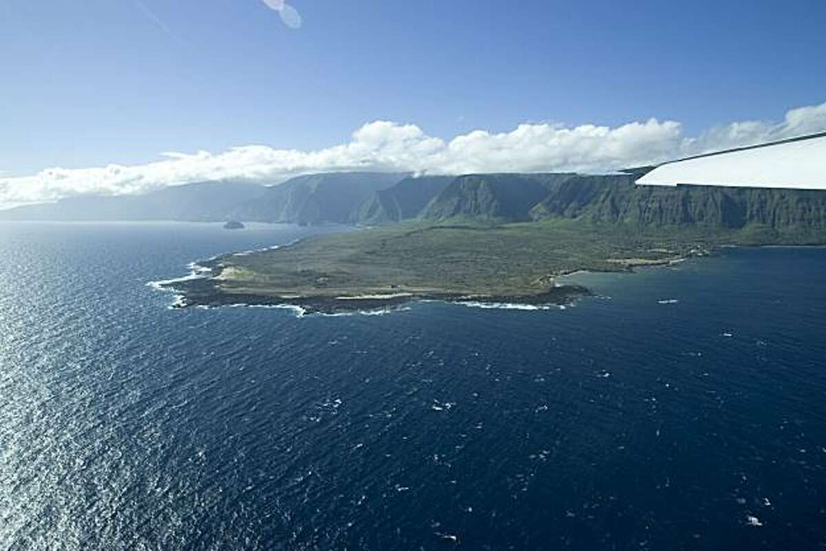 Kalaupapa, Hawaii is seen from the air in this Aug. 12, 2008 photo.