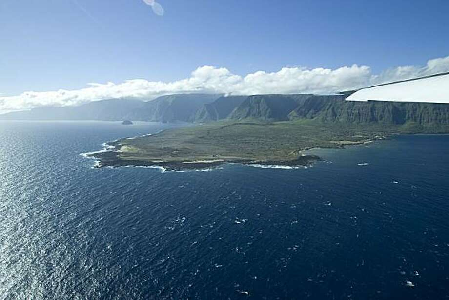 Kalaupapa, Hawaii is seen from the air in this Aug. 12, 2008 photo. Photo: Hugh Gentry, AP