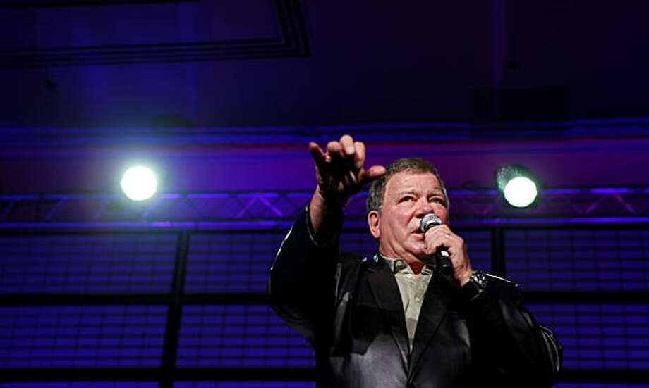 William Shatner addresses fans at the Star Trek Convention on Sunday in San Francisco. Photo: Lacy Atkins, The Chronicle