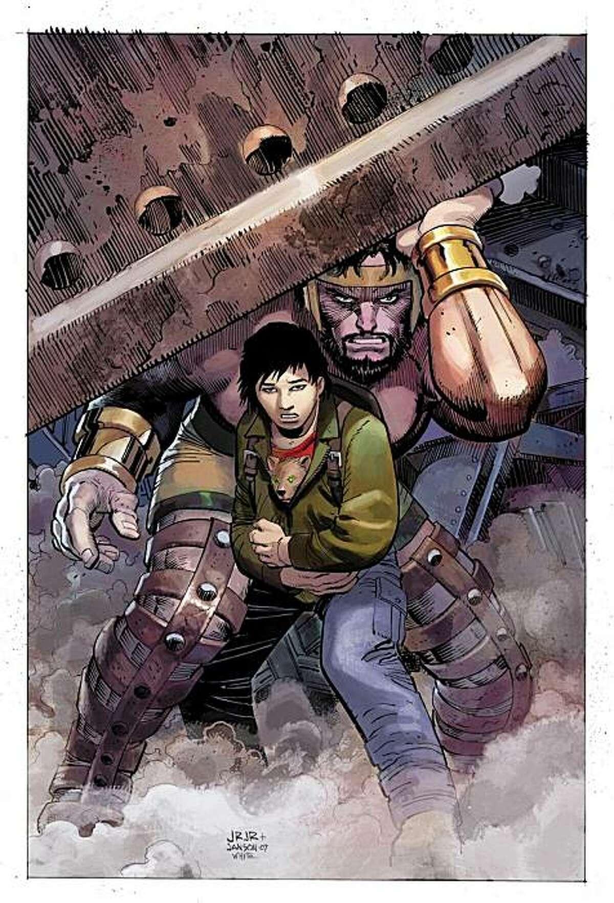 The Greek god Hercules and Amadeus Cho -- BFF!