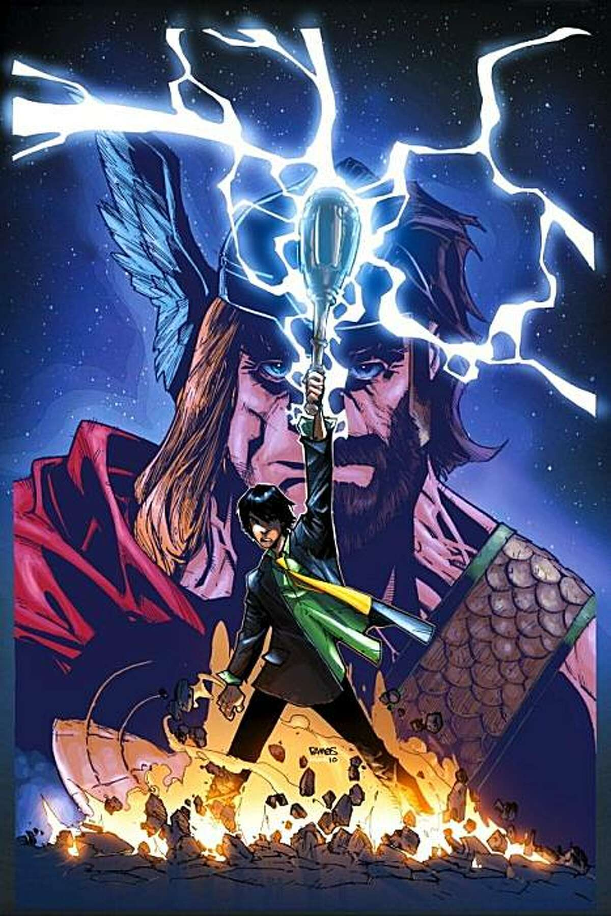 """Cover image from the forthcoming """"Heroic Age: Prince of Power."""""""