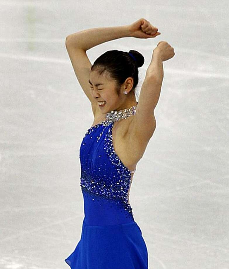 Yu-Na Kim of the Republic of Korea finishes her gold medal-winning program in the free program of the women's figure skating competition at the Winter Olympic Games in Vancouver, British Columbia, on Thursday, Feb. 25, 2010. Paul Chinn/Chronicle OlympicYu-Na Kim of the Republic of Korea finishes her gold medal-winning program in the free program of the women's figure skating competition at the Winter Olympic Games in Vancouver, British Columbia, on Thursday, Feb. 25, 2010. Photo: Paul Chinn, The Chronicle