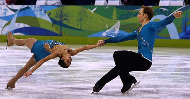 Amanda Evora and Mark Ladwig of the United States perform in the pairs free skate competition at the Winter Olympic Games in Vancouver, British Columbia, on Monday.Amanda Evora and Mark Ladwig of the United States perform in the pairs free skate competition at the Winter Olympic Games in Vancouver, British Columbia, on Monday, Feb. 15, 2010. Photo: Paul Chinn, The Chronicle