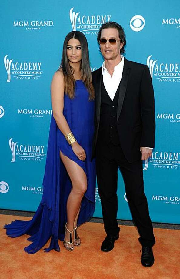 Married: Matthew McConaughey and Brazilian model Camila Alves were married June 9 after 6 years of dating.  Photo: Dan Steinberg, AP