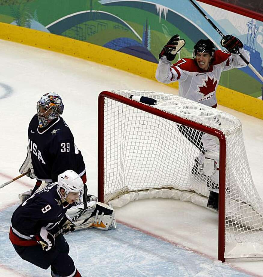Canada's Sidney Crosby celebrates his game-winning goal over USA in overtime of the gold medal hockey game at the Winter Olympic Games in Vancouver, British Columbia, on Sunday, Feb. 28, 2010. Paul Chinn/Chronicle Olympic BureauCanada's Sidney Crosby celebrates his game-winning goal over USA in overtime of the gold medal hockey game at the Winter Olympic Games in Vancouver, British Columbia, on Sunday, Feb. 28, 2010. Photo: Paul Chinn, The Chronicle