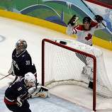 Canada's Sidney Crosby celebrates his game-winning goal over USA in overtime of the gold medal hockey game at the Winter Olympic Games in Vancouver, British Columbia, on Sunday, Feb. 28, 2010. Paul Chinn/Chronicle Olympic BureauCanada's Sidney Crosby celebrates his game-winning goal over USA in overtime of the gold medal hockey game at the Winter Olympic Games in Vancouver, British Columbia, on Sunday, Feb. 28, 2010.