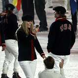 Skier Lindsey Vonn shoots video while walking with other athletes during Closing Ceremonies of the Winter Olympic Games in Vancouver, British Columbia, on Sunday, Feb. 28, 2010. Paul Chinn/Chronicle Olympic BureauSkier Lindsey Vonn shoots video while walking with other athletes during Closing Ceremonies of the Winter Olympic Games in Vancouver, British Columbia, on Sunday, Feb. 28, 2010.