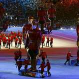 Performers dressed as Mounties entertain the audience at the Closing Ceremonies of the Winter Olympic Games in Vancouver, British Columbia, on Sunday, Feb. 28, 2010. Paul Chinn/Chronicle Olympic BureauPerformers dressed as Mounties entertain the audience at the Closing Ceremonies of the Winter Olympic Games in Vancouver, British Columbia, on Sunday, Feb. 28, 2010.