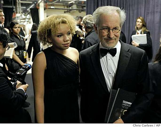 Steven Spielberg and daughter Mikaela George Spielberg are ...