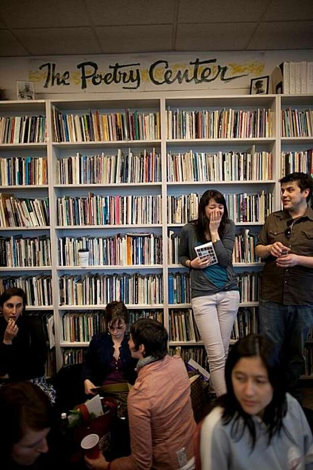 The 14 Hills staff hosted a reading and party on Thursday, March 25th at the SFSU Poetry Center to celebrate the re-release of their anthology, New Standards: The First Decade at 14 Hills.  The anthology synthesizes the best works from ten years of 14 Hills: The SFSU Review, which is a literary journal run solely by graduate students at San Francisco State University.  14 Hills is dedicated to publishing progressive and experimental works that both challenge and engage the reader and have made themselves into an intrinsic part of the Bay Area literary scene.  The event featured readings by Bay Area literary brights; Peter Orner, Nona Caspers, Eireen Nealand, and John Cleary as well as opened the floor for the attendees to ask questions. Photo: Alexandra Marie Carelli/ SFGate