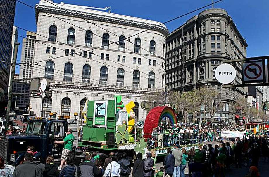 The San Francisco Recreation & Parks float on Market Street during the 159th Annual St. Patrick's Day Parade in San Francisco, Calif. Saturday March 13, 2010. Photo: Jana Asenbrennerova, The Chronicle