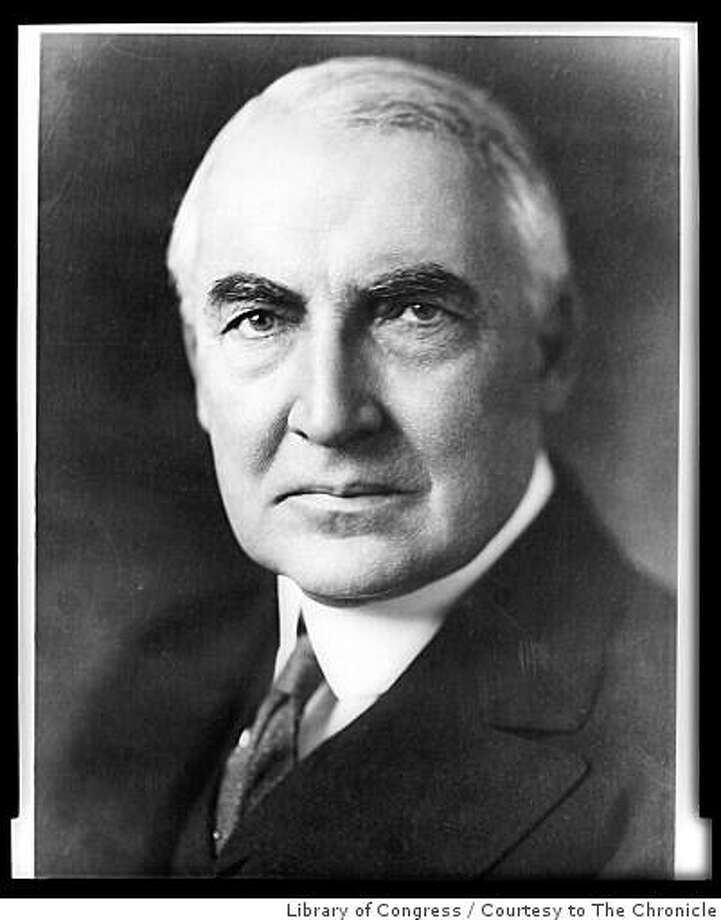 President Warren Harding Photo: Library Of Congress, Courtesy To The Chronicle