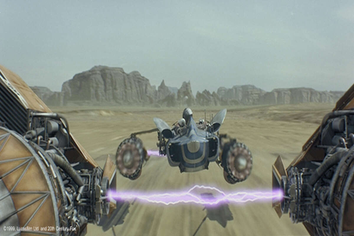 Podracing on Tatooine.