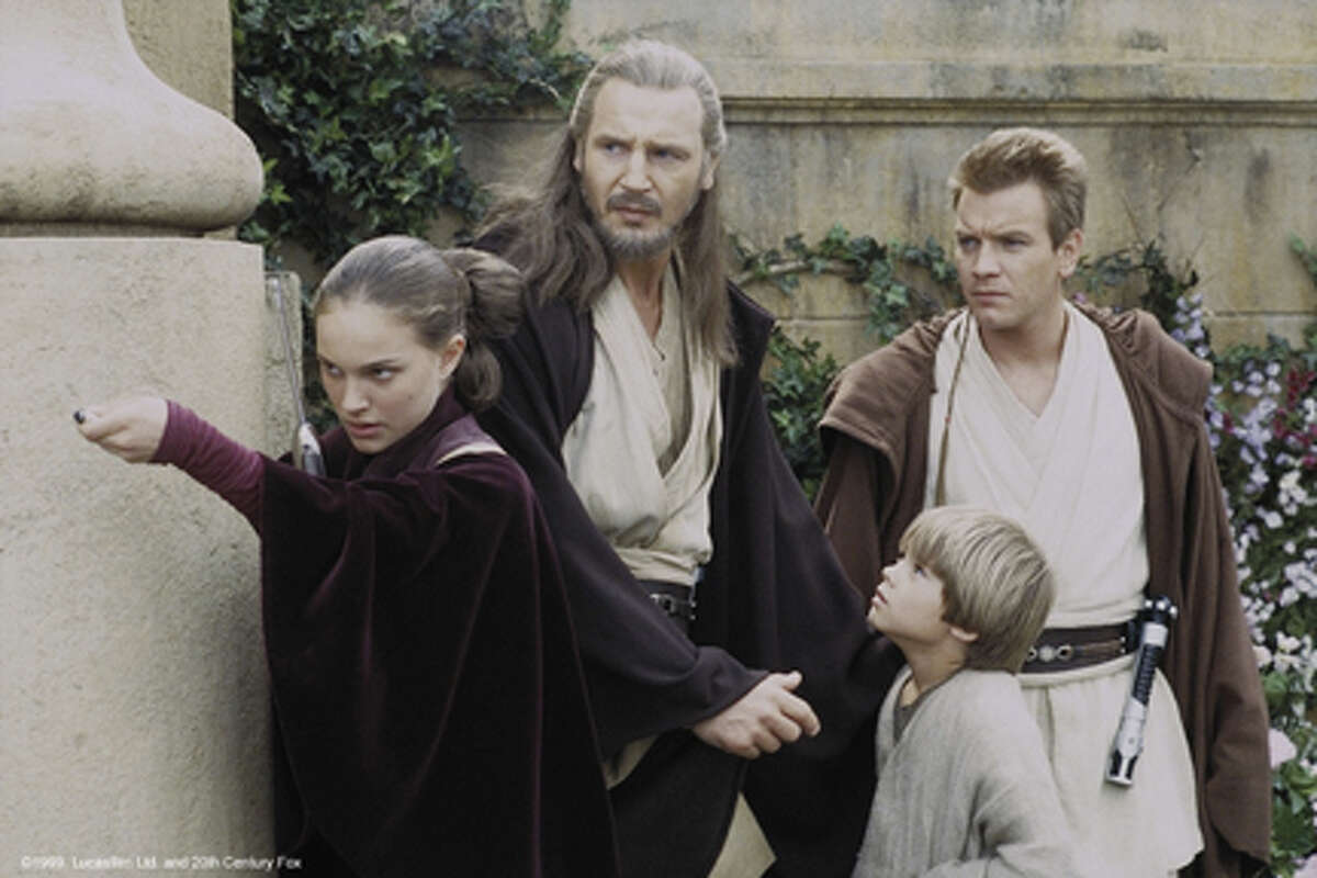 Queen Amidala, Qui-Gon Jinn, Anakin Skywalker and Obi-Wan Kenobi.