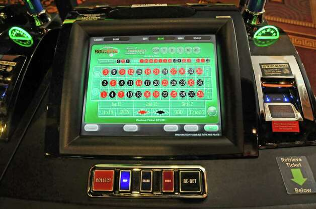 One of the new electronic roulette machines at the Saratoga Gaming and Raceway Racino in Saratoga Springs, NY on September 24, 2010. (Lori Van Buren / Times Union) Photo: Lori Van Buren, Albany Times Union / 00010392A