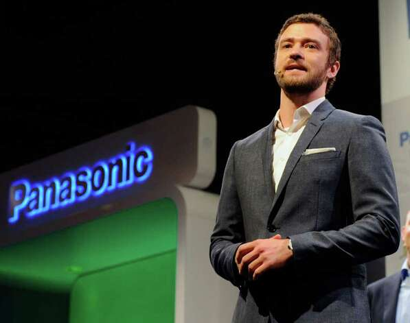 Recording artist/actor Justin Timberlake appears during a Panasonic press event to announce Myspace TV, a social TV service that will be available on Panasonic connected televisions, at The Venetian for the 2012 International Consumer Electronics Show January 9, 2012 in Las Vegas, Nevada. Photo: Ethan Miller, Getty Images / 2012 Getty Images