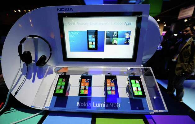 The Nokia Lumia 900 Windows Phone is displayed at the 2012 International Consumer Electronics Show at the Las Vegas Convention Center January 10, 2012 in Las Vegas, Nevada. Photo: Kevork Djansezian, Getty Images / 2012 Getty Images