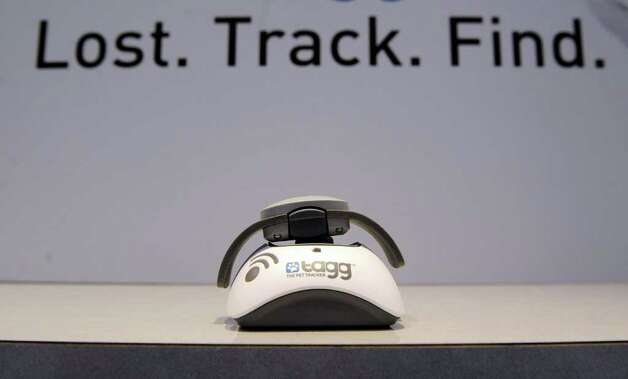 Tagg The Pet Tracker is displayed at the 2012 International Consumer Electronics Show at the Las Vegas Convention Center January 10, 2012 in Las Vegas, Nevada. The tracker uses a GPS to help find your pet. Photo: David Becker, Getty Images / 2012 Getty Images